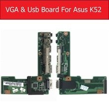 Pour ASUS K52 X52J A52J K52J K52JR K52JT K52JB K52JU K52JE K52D X52D A52D K52DY K52DE K52DR Audio VGA et USB Carte E/S Carte Dalimentation CC
