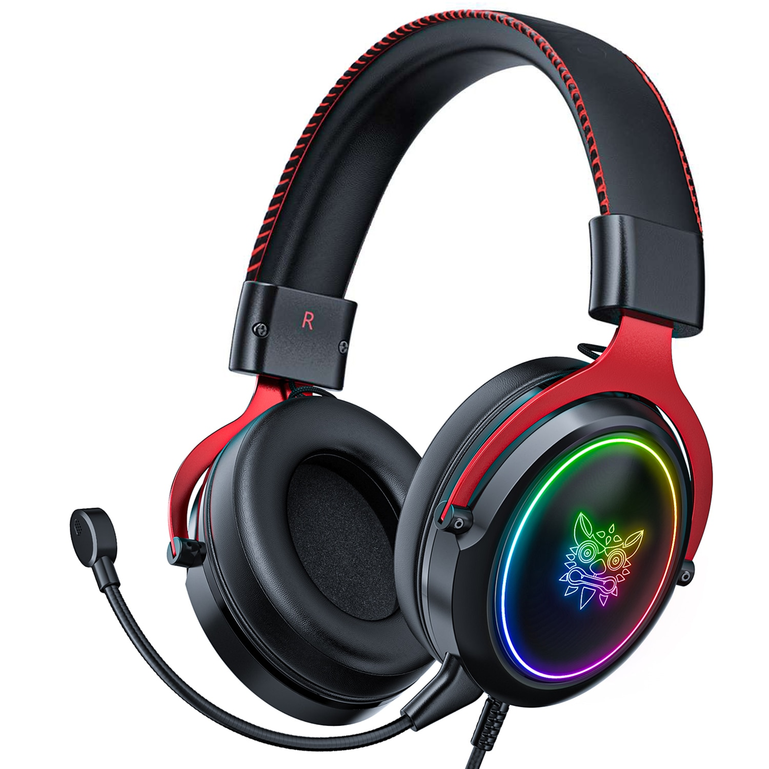 Wired Gaming Headset  PS4 Headphones Bass Stereo Game RGB Light Earphone With Removable Microphone For PC Phone XBOX Laptop недорого