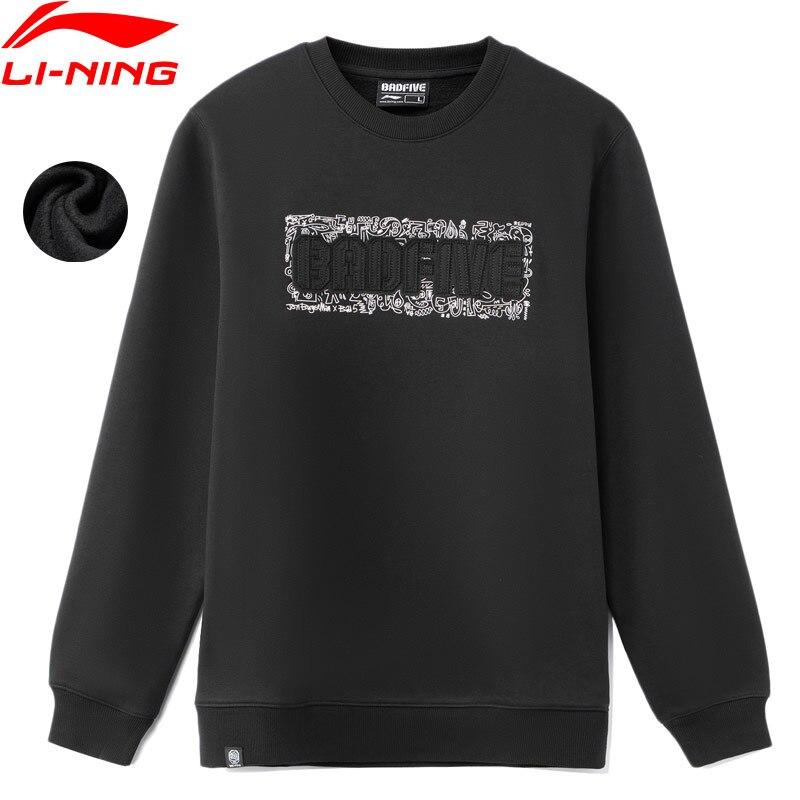 Li-Ning Men JON BURGERMAN BADFIVE Hoodie Warm AT Fleece 65%Polyester 35%Cotton Regular Fit LiNing Sport Swearshirt AWDR775