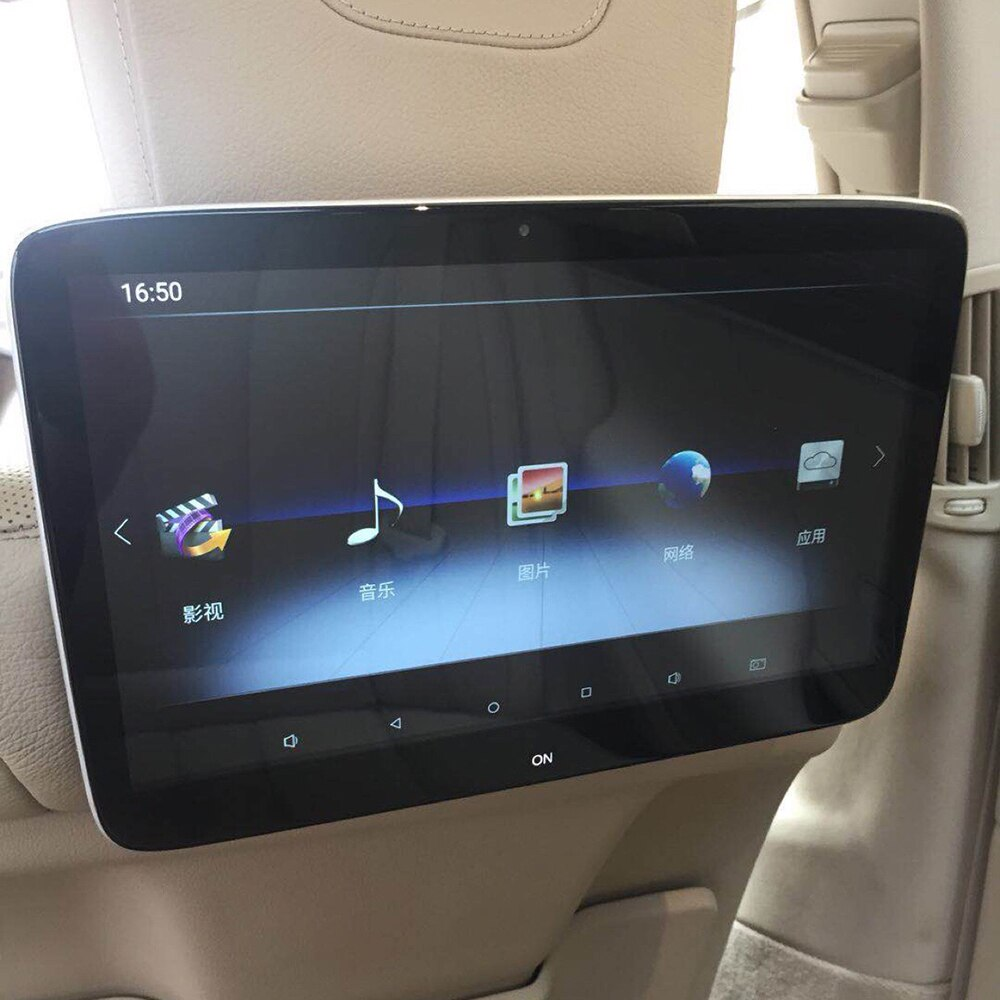 Affichage des appuie-tête de voiture   2 pièces, 11.6 pouces, moniteur avec transmetteur USB FM sans fil, Bluetooth, lecteur vidéo 4K pour Mercedes classe E