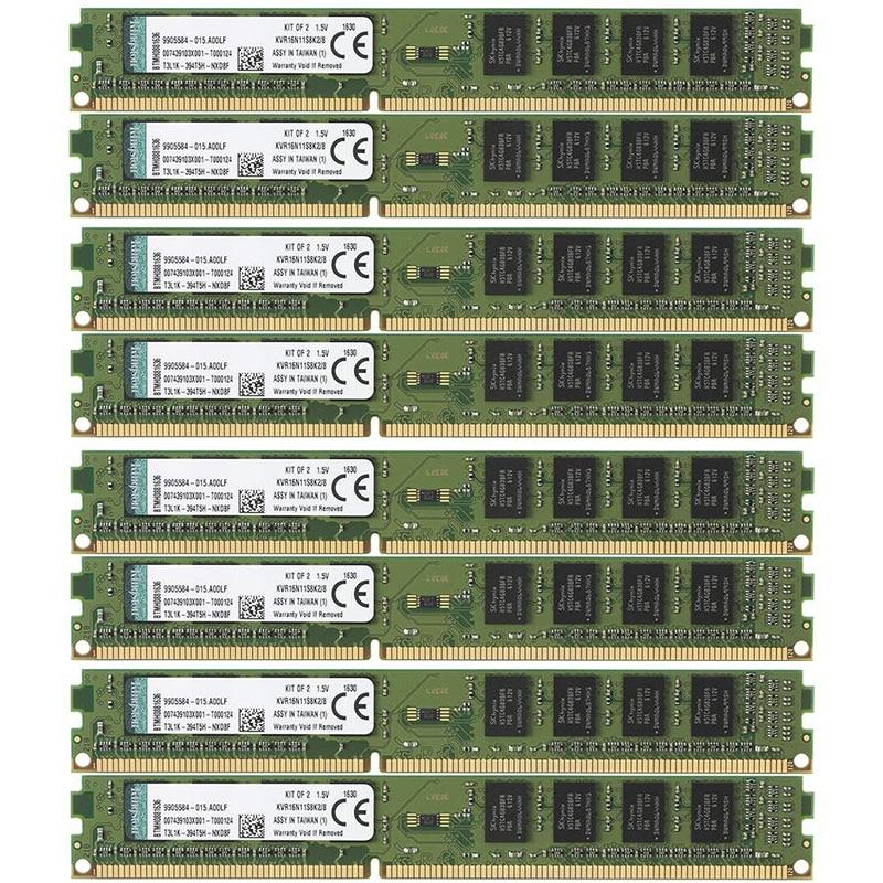 Kingston 50 قطعة أو 100 قطعة مجموعة DDR3 4 جيجابايت RAM 1333 ميجا هرتز PC3-10600 DIMM سطح المكتب 240 دبابيس 1.5 فولت غير ECC ل AMD و إنتل