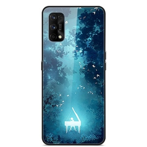 Glass Case For Realme 7 Pro Phone Case Phone Cover Phone Shell Back Bumper Series 2