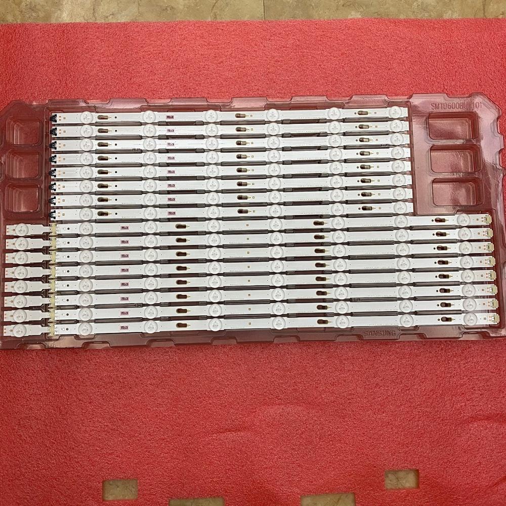 16 PCS LED backlight strip for Samsung UE60KU6000 UE60JU6000 UN60JU7100 V5DU-600DCA 600DCB-R1 BN96-34806A 34805A 39664A 39663A