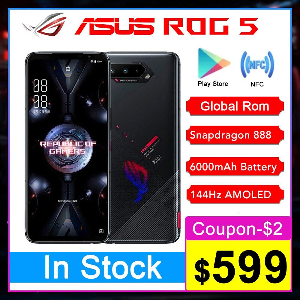 Asus – téléphone portable de jeu ROG 5G, écran de 6.78 pouces, 16ram, écran de 144Hz, Snapdragon 888, 6000mAh, charge rapide 65W, Original
