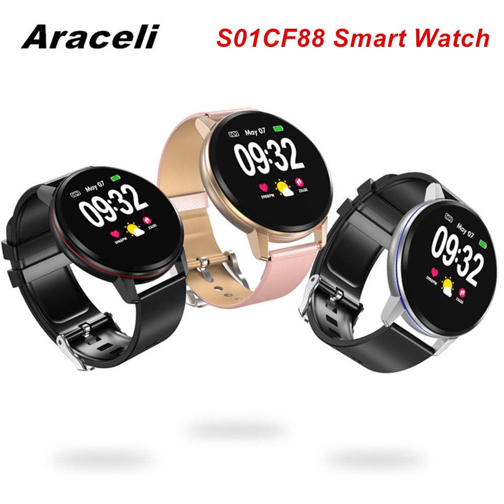 Reloj inteligente pantalla redonda táctil a prueba de agua pulsera de cámara Frecuencia Cardíaca control de la presión arterial Q8 reloj inteligente