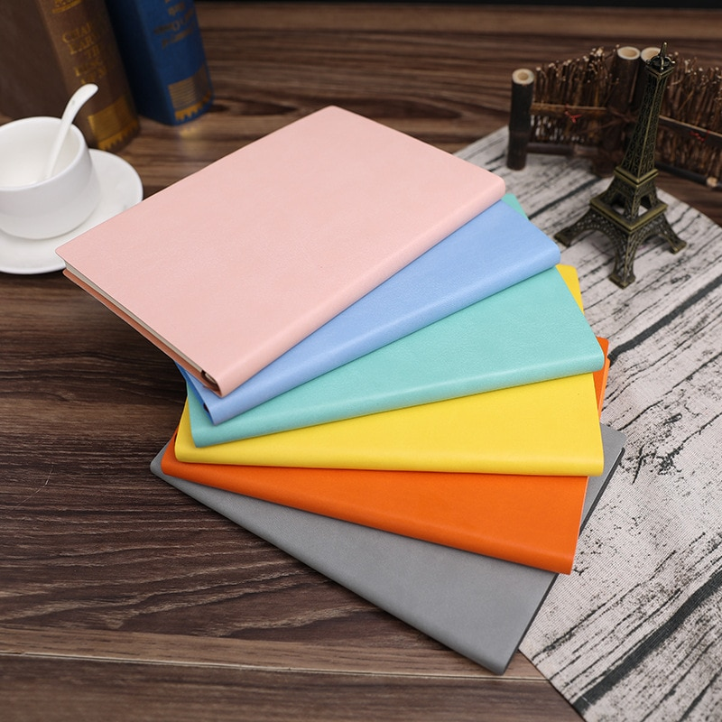 A5 Plan Diary Book Schedule Simple Business Pu Leather Notebook And Journal For Students Notepad School Supplies Stationery Gift