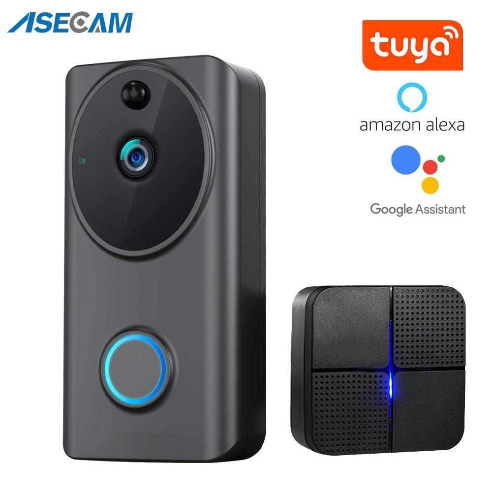 Alexa Video Doorbell 1080P Wifi Smart Home Phone Call Audio Intercom White Black Wireless Google Doo