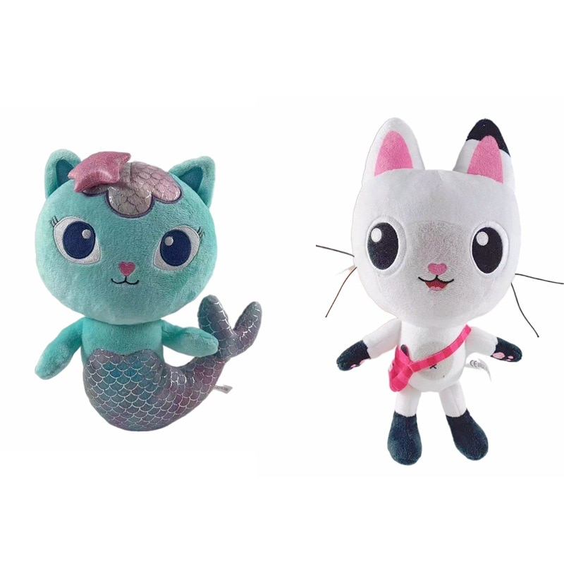 Dollhouse Plush Toys Mercat Cartoon Stuffed Animals Mermaid Cat Mermaid melody plush Dolls  Kids Birthday Gifts недорого