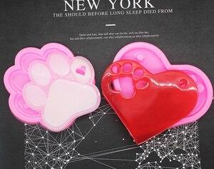 Два вида кошачьих когтей медвежьих лапок брелоков силиконовые шоколадные формы для печенья