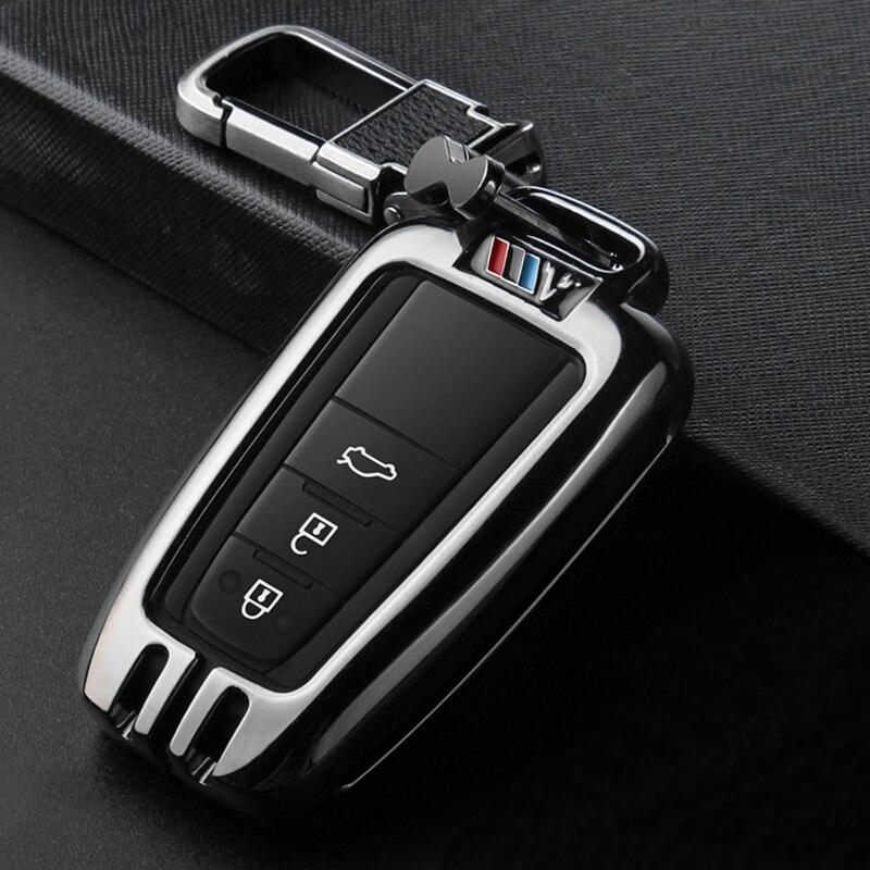 Sac de gousset de couverture de clé de voiture de Sport en métal approprié à TOYOTA CAMRY V7 VA7 VH7 CHR X1 COROLLA E21 RAV 4 V 5 PRADO AVALON AXXA50