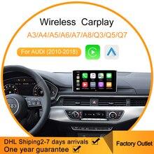 Lecteur multimédia de voiture automatique Android sans fil Carplay pour Audi sans fil Support de jeu de voiture Apple Mirrorlink IOS 13