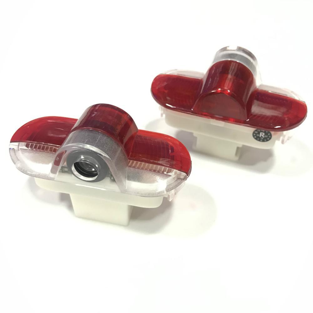 Jurus 2 pçs carro-estilo para skoda octavia 2004-2008 led luz da porta do carro projetor laser lâmpada carros logotipo bem-vinda luz acessórios