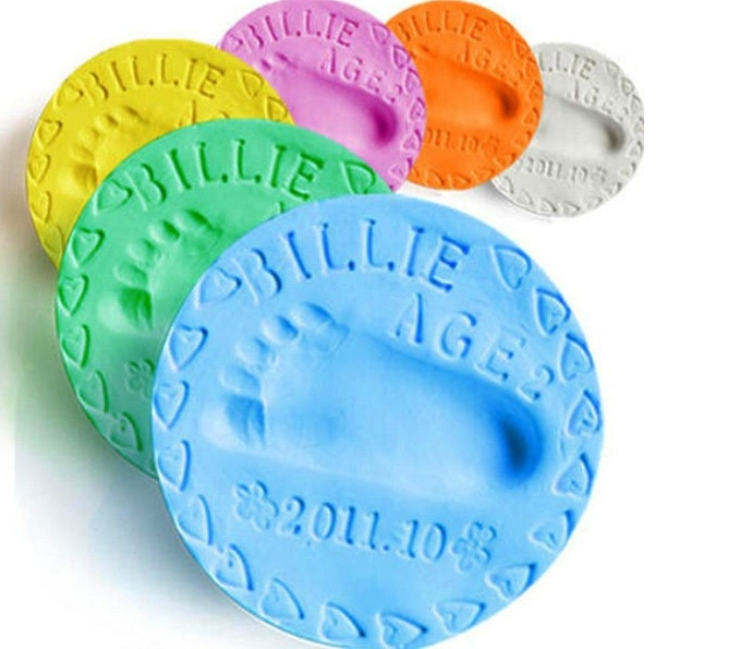 baby handprint footprint frame newborn footprint kit footprint child special gift for births and baptisms safe clean non toxic yooap Baby care non-toxic handprint footprint imprint baby souvenir casting newborn footprint ink pad baby clay toy