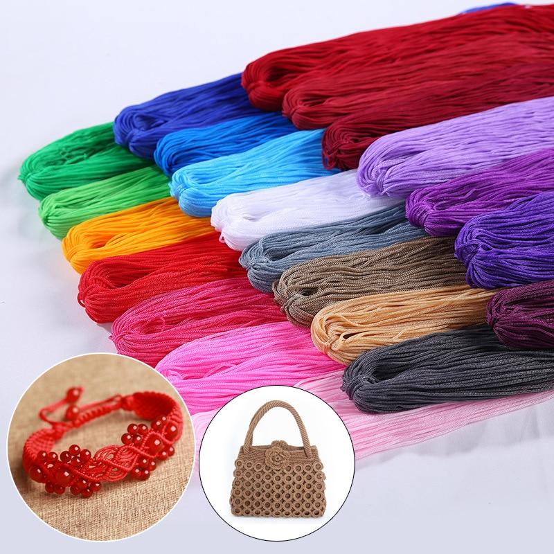 Manualidades huecas, decoraciones de ganchillo, bolsos, suéter de hilo para Hilo de Tejer, tejido a mano, colorido, hecho a mano para DIY