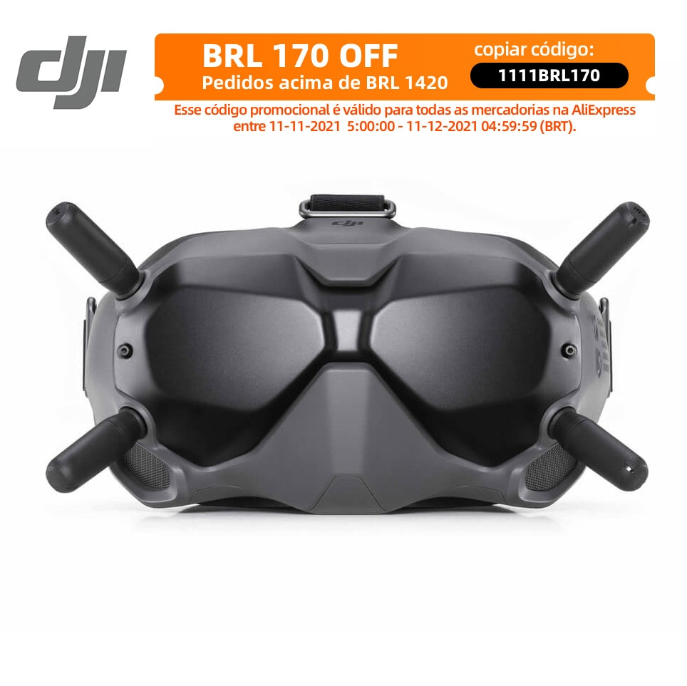 DJI FPV نظارات V2 الرقمية FPV نظام نقل الصور الرقمية منخفضة الكمون قوي الغمر لمسافات طويلة 110 دقيقة في المخزون