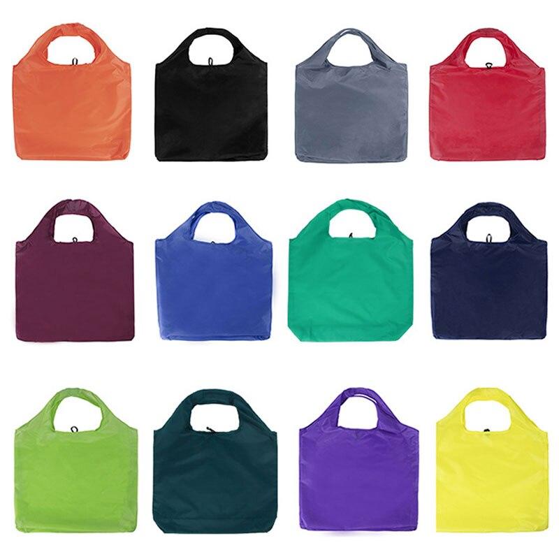 sport double layer water proof arm bag dark blue Thick Double Layer Portable Foldable Shopping Bag Large Capacity Nylon Bag Waterproof Tear Proof Shoulder Bag Eco Handbag