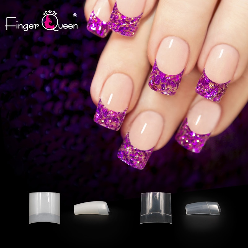 500pcs/100pcs/bag French Fake Nails Natural/clear Short Nails Suitable for Professional Salon or Personal Use Nail Tips