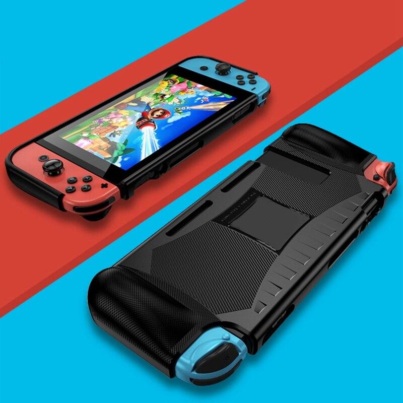 Caso de la cubierta protectora de TPU suave a prueba de golpes a prueba agarre Dockable para consola Nintendo Switch y controlador de alegría-Con