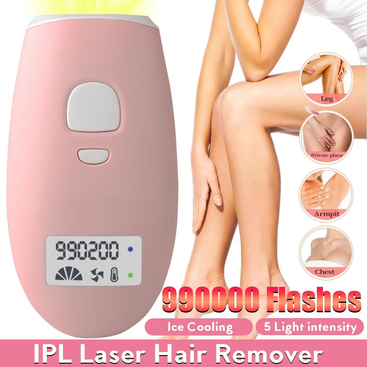 Depilación láser IPL, depiladora Flash 990000, fotodepiladora láser profesional, utensilio de depilación sin dolor permanente para mujeres