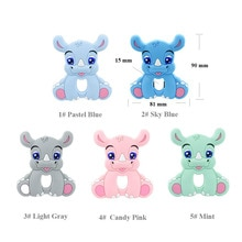 5/10PCS rhinoceros Silicone Baby Teether rodent Baby Teething Toys Chewable Animal Shape Baby Produc