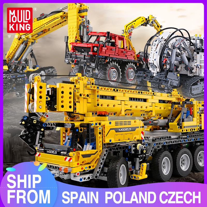MOULD KING Remote control Truck model High-Tech toys Motor Power Mobile Crane Mk II Sets Building Blocks Bricks Kids Toys Gifts