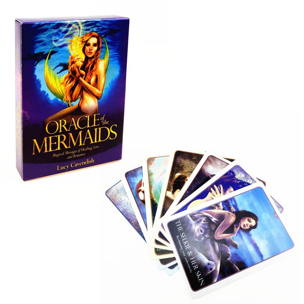 Cartas de Tarot Oracle Of The Mermaids, cartas de Tarot de mesa, cartas de juego para diversión familiar, cartas para juegos de mesa, entretenimiento Divination Fate