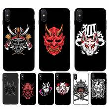 Funda YNDFCNB para móvil con diseño de concha de samurái japonés para iphone 11 Pro Max X XS MAX 6 6s 7 8 plus 5 5S 5SE XR SE2020