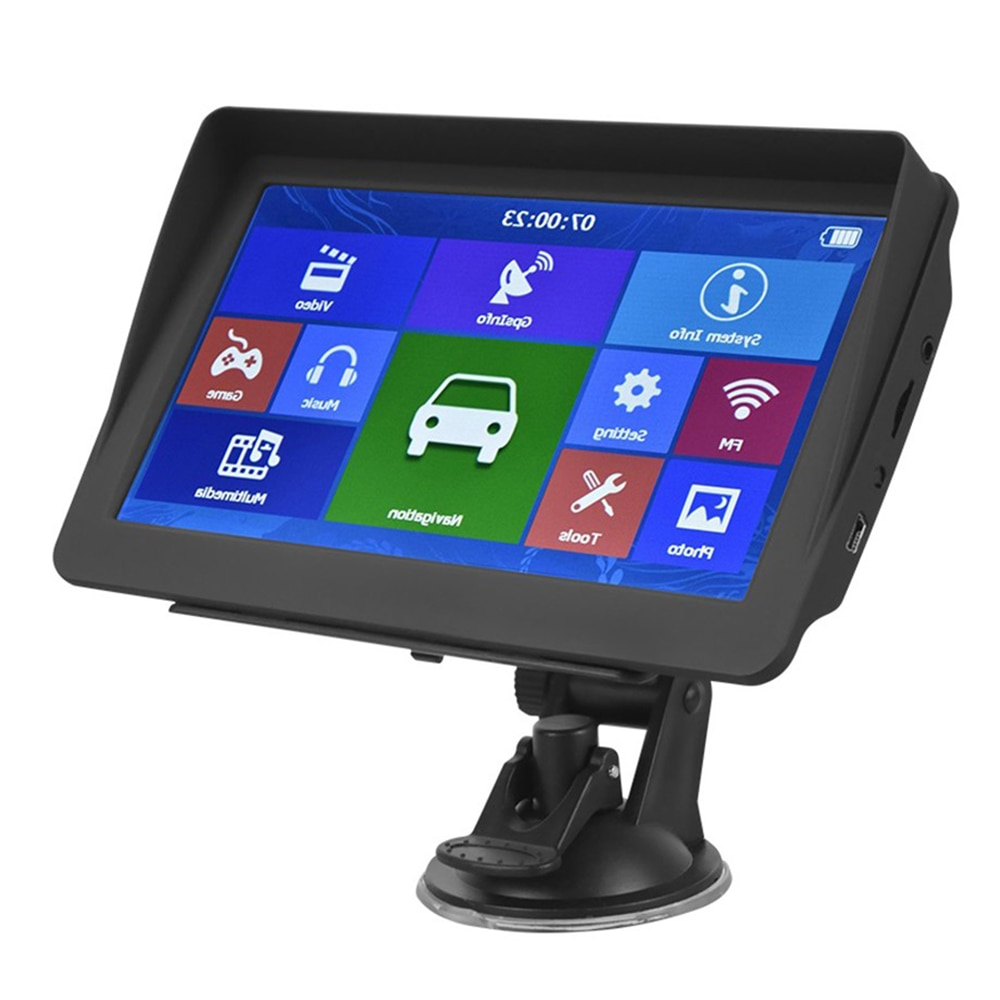 Car Navigator GPS 7 Inch Touch Screen 8GB Voice Prompts GPS Navigator Support FM Radio MP3 MP4 with Map