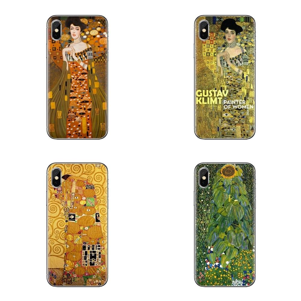 Soft Transparent Cover For Samsung Galaxy J1 J2 J3 J4 J5 J6 J7 J8 Plus 2018 Prime 2015 2016 2017 Kiss by Gustav Klimt gold tears