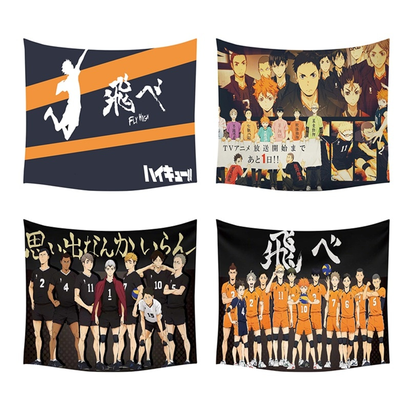 Tapiz de pared de Anime Haikyuu, cubierta de toalla de playa, manta de Picnic, esterilla de Yoga, decoración del hogar