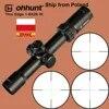 Ohhunt דק קצה 1-6X28 IR ציד היקף אופטי Sight זכוכית Reticle להאיר עם צריחי איפוס טקטי ירי Riflescope