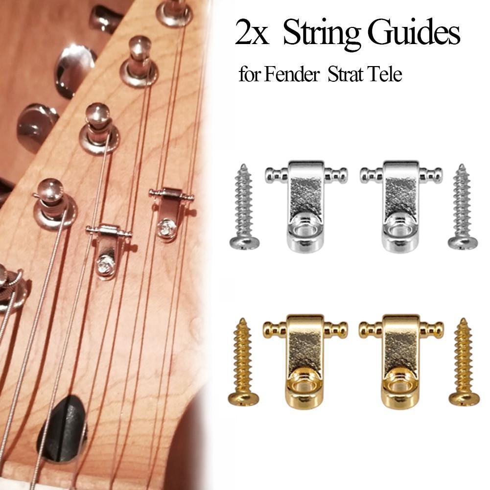 2 unids/set cuerda de guitarra de guías con tornillos para Fender Strat...