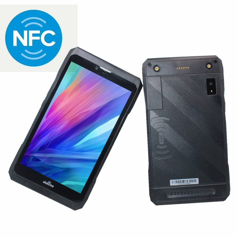 NFC المزدوج سيم 7 بوصة الجيل الثالث 3G مكالمة هاتفية اللوحي MTK6582 رباعية النواة أندرويد 4.4 1GB + 8GB واي فاي فابلت مقاوم للماء متوافق