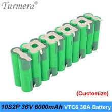10s 36v batterie 18650 pack vtc6 10s2p 36v 42v 6000mah batterie à souder pour graden outil vélo batterie personnalisée batterie