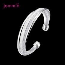 Nieuwkomers Echt 925 Sterling Zilveren Armband Armband Voor Vrouwen Meisjes Opening Bangle Sieraden Voor Bruiloft Engagement Dating