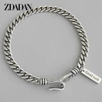 zdadan 925 sterling silver thai silver 3mm sideways adjustable bracelet for women men fashion jewelry