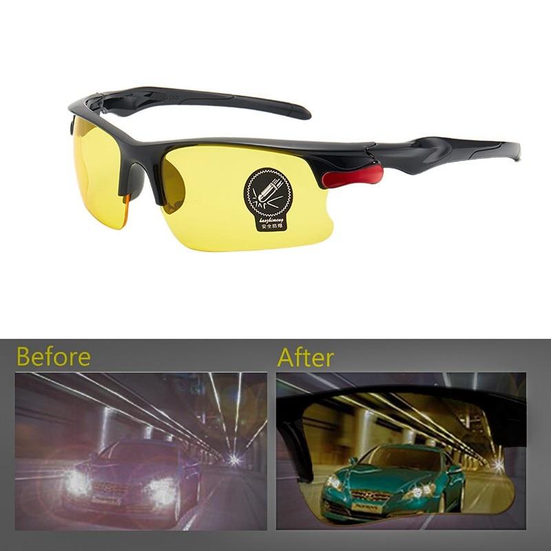 1 шт. вождения антибликовые поляризованные солнцезащитные очки, очки, для езды на Ночное видение драйверы Очки аксессуар Защитное снаряжение Мужские очки ночного видения      АлиЭкспресс