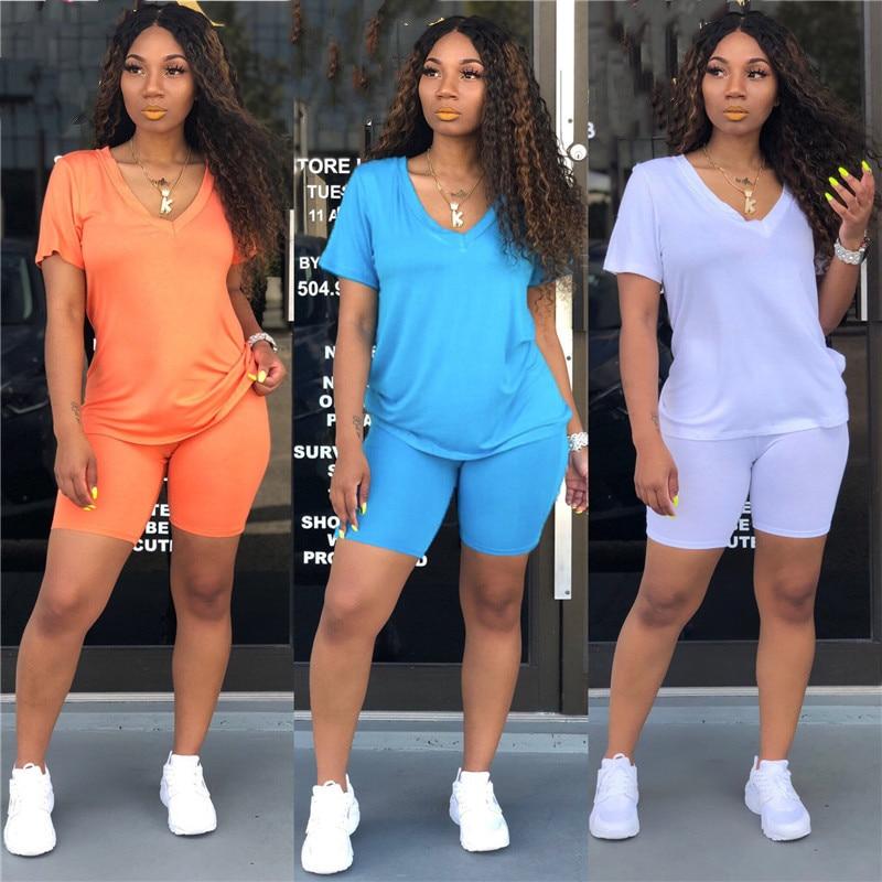 2020 novas roupas de treino de treino roupas de treino de moda verão outfit senhoras casuais conjunto