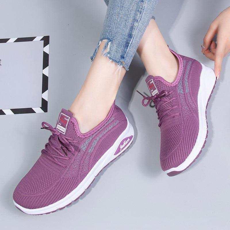 2021 Women Sneakers White Casual Platform Sneakers Light Fashion Women Sport Shoes Running Walking T