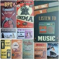 Douladou     affiche en metal Vintage  Plaque de Bbq cinema  ecouter de la musique  Art  Bar Pub  decoration de maison  autocollants muraux 30x20CM