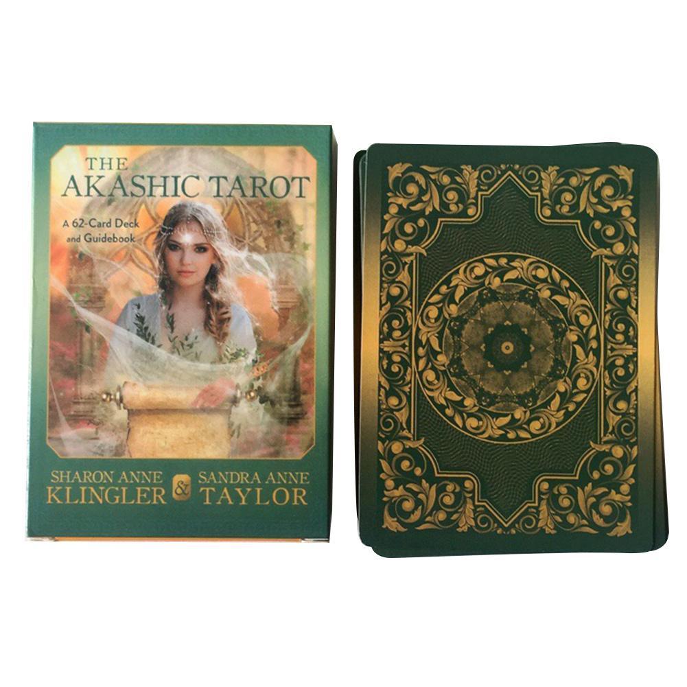 62 Uds. Cartas de Tarot Akashic, juegos de mesa, oráculo, guía, adivinación, destino, Tarot, para juegos de cartas de fiesta familiar
