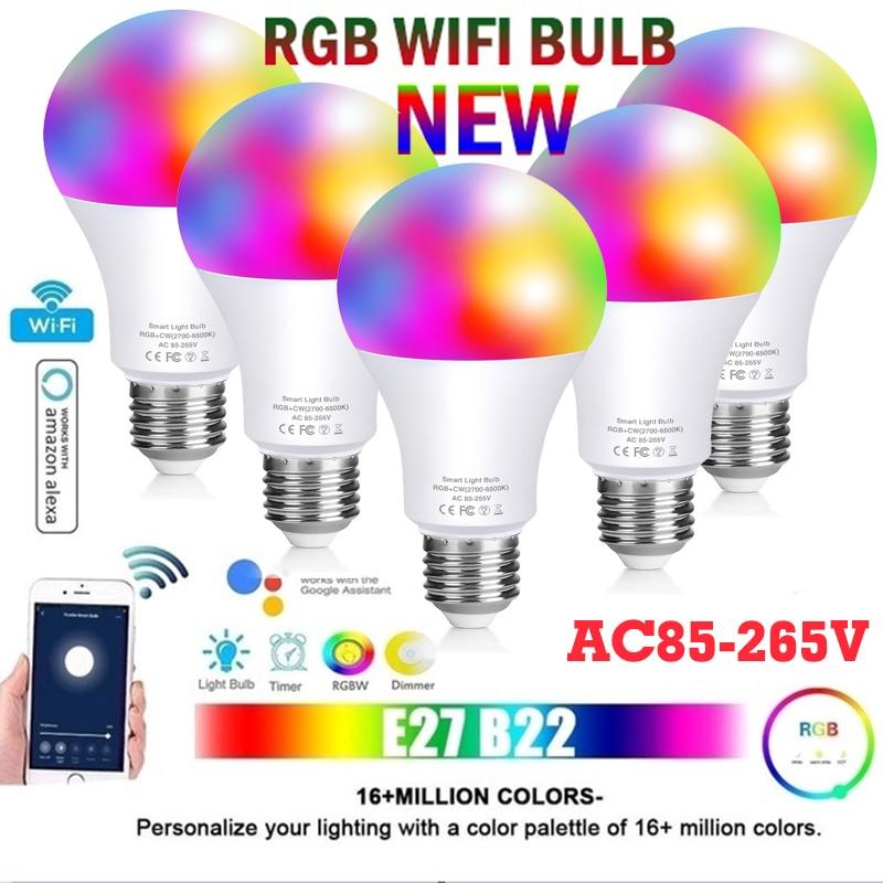 Bombilla LED RGB para decoración de fiestas, lámpara inteligente E27 de 16...