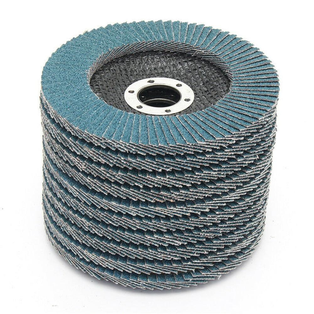 5 шт. шлифовальные диски 115 мм 4,5 дюйма шлифовальные диски шлифовальные откидные диски 40/60/80/120 Грит шлифовальные Угловые диски абразивный инс...