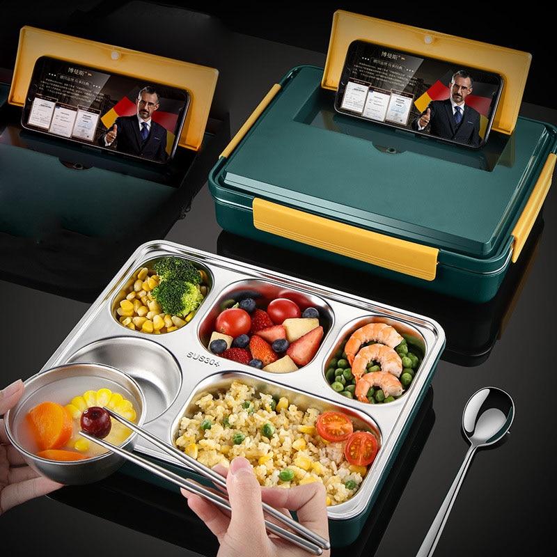 Bento Box 304 ланч-бокс из нержавеющей стали для детей, офисный работник, изолированный ланч-бокс с чашкой для супа, ланч бокс, Нер для еды, Новинка