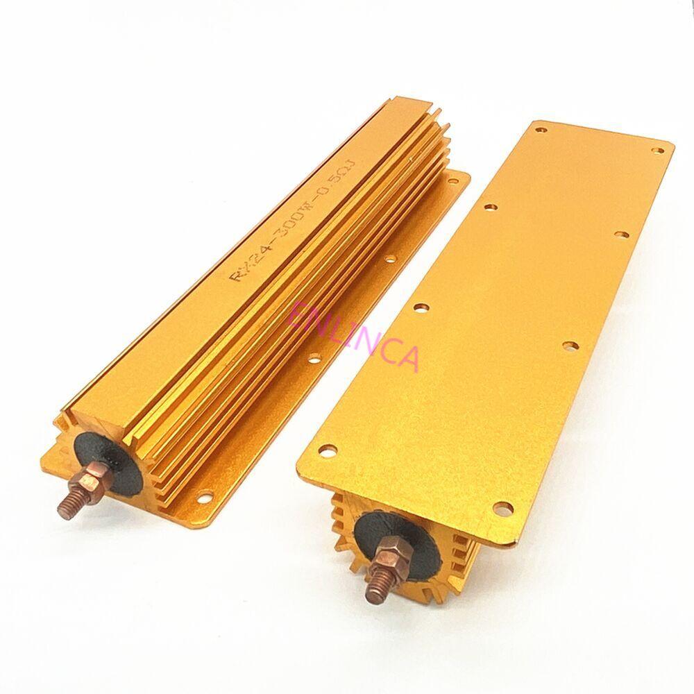 RX24 300 Вт алюминиевый мощный металлический корпус чехол проволочный резистор 0,01 ~ 100K полное значение 2 4 6 8 10 20 100 150 200 300 500 1K 10K Ом