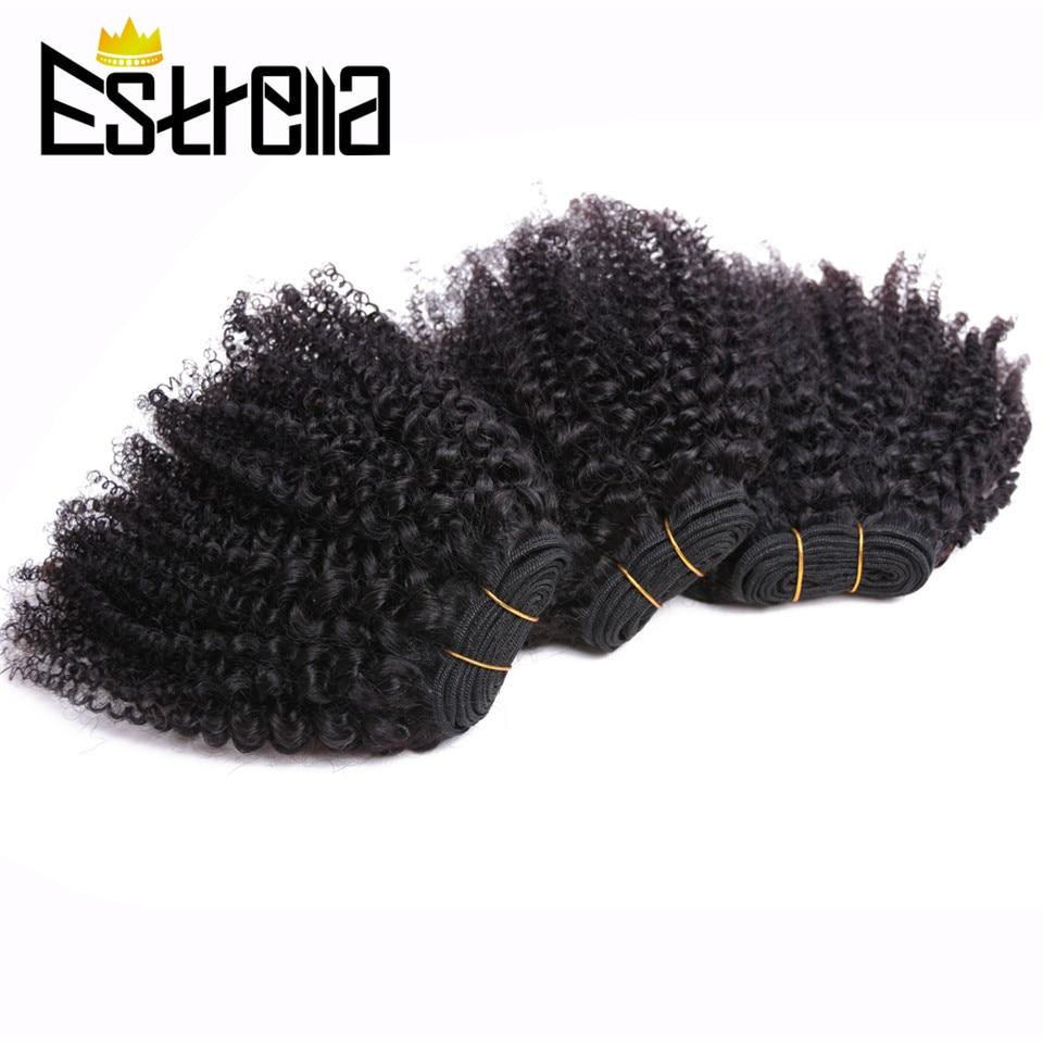 Afro Kinky Curly Hair Bundles 100% Human Hair Bundles Remy 6Pcs/Lot Mongolian Bundles Deal Afro Kinky Human Hair Extensions