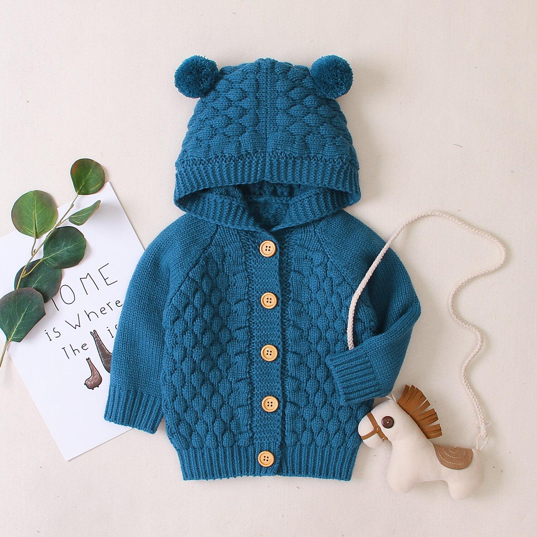 Recién Nacido niña invierno cálido prendas de abrigo con capucha chaqueta niños suéter