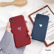 Pour Oneplus 7 Pro 1 + 7 1 + 6 étui amour coeur impression couverture arrière pour un Plus 6 5t 5 rétro beau motif mat doux coques de téléphone