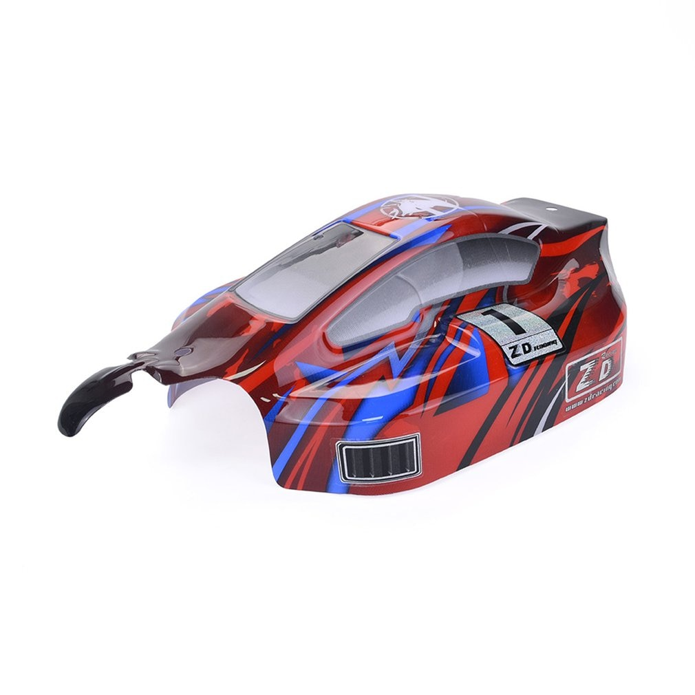 RC On-road Car PVC Shell Body Cover for 1/8 ZD Racing 8459 RC Car Accessories Parts Black/Red enlarge