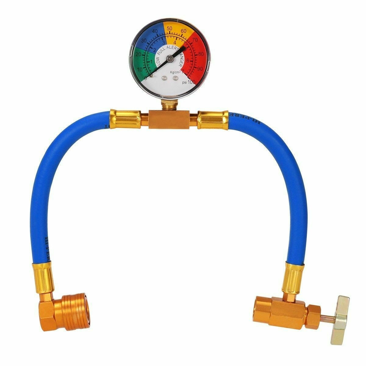 practical r134a to r12 r22 refrigerant recharge hose pipe Car Air Conditioning Refrigerant Recharge Measuring Kit Hose Gas Gauge R134a